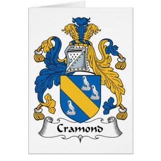 Escudo de la familia de Cramond Tarjeta De Felicitación