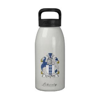 Escudo de la familia de Cranfield Botella De Agua Reutilizable