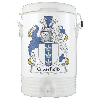 Escudo de la familia de Cranfield Enfriador De Bebida Igloo