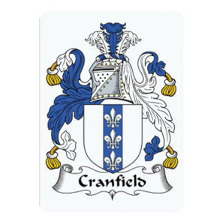 Escudo de la familia de Cranfield Invitaciones Personalizada