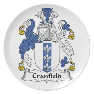 Escudo de la familia de Cranfield Plato
