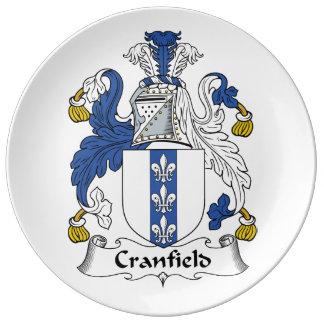 Escudo de la familia de Cranfield Platos De Cerámica