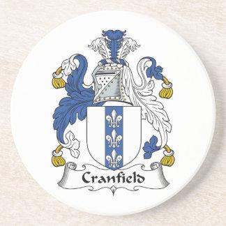 Escudo de la familia de Cranfield Posavasos Cerveza