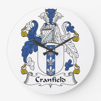 Escudo de la familia de Cranfield Reloj Redondo Grande