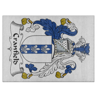 Escudo de la familia de Cranfield Tabla Para Cortar