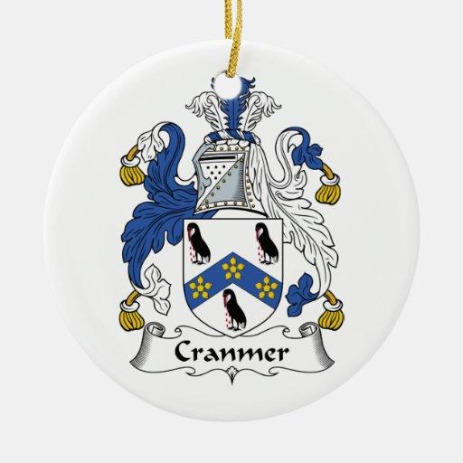 Escudo de la familia de Cranmer Ornamento De Navidad