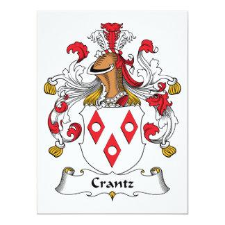 """Escudo de la familia de Crantz Invitación 6.5"""" X 8.75"""""""
