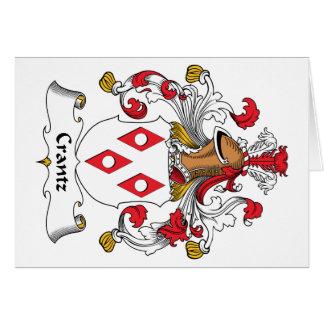 Escudo de la familia de Crantz Tarjeta De Felicitación