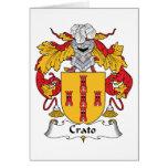 Escudo de la familia de Crato Felicitaciones