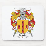 Escudo de la familia de Crato Alfombrillas De Raton