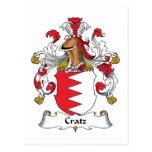 Escudo de la familia de Cratz Postal