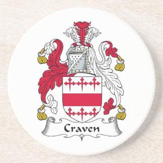Escudo de la familia de Craven Posavasos Personalizados