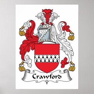 Escudo de la familia de Crawford Posters