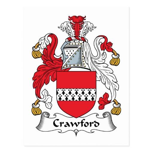 Escudo de la familia de Crawford Tarjeta Postal