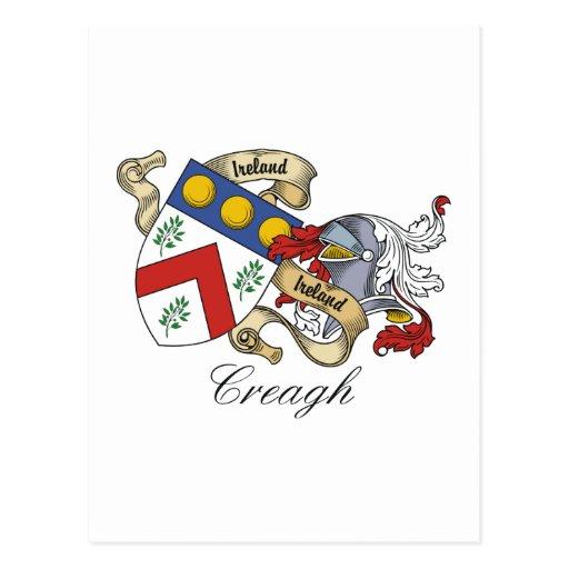 Escudo de la familia de Creagh Postales