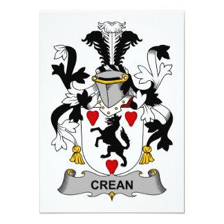 """Escudo de la familia de Crean Invitación 5"""" X 7"""""""