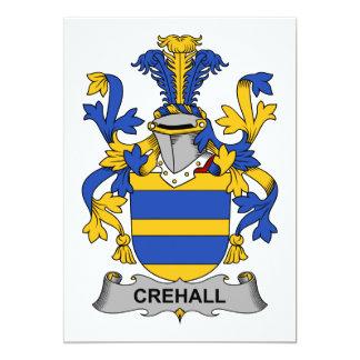 """Escudo de la familia de Crehall Invitación 5"""" X 7"""""""