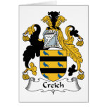 Escudo de la familia de Creich Tarjeta