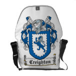 Escudo de la familia de Creighton Bolsa De Mensajeria