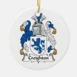 Escudo de la familia de Creighton Ornamentos De Reyes Magos