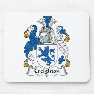Escudo de la familia de Creighton Mousepads
