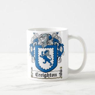 Escudo de la familia de Creighton Taza De Café