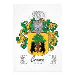 Escudo de la familia de Crema Invitaciones Personalizada