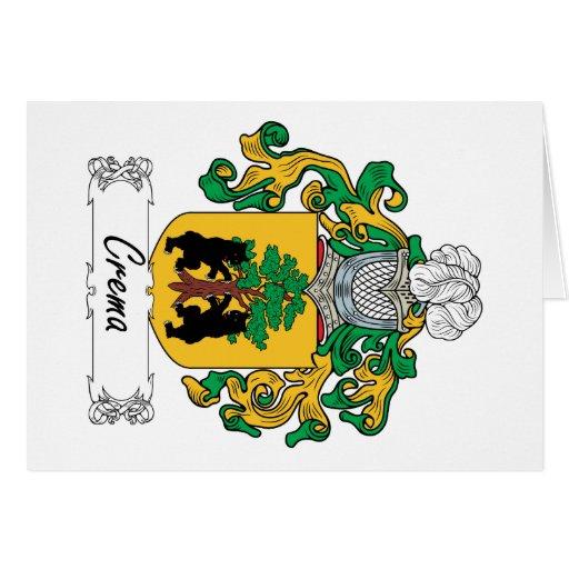 Escudo de la familia de Crema Tarjetas