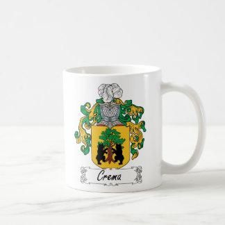 Escudo de la familia de Crema Taza