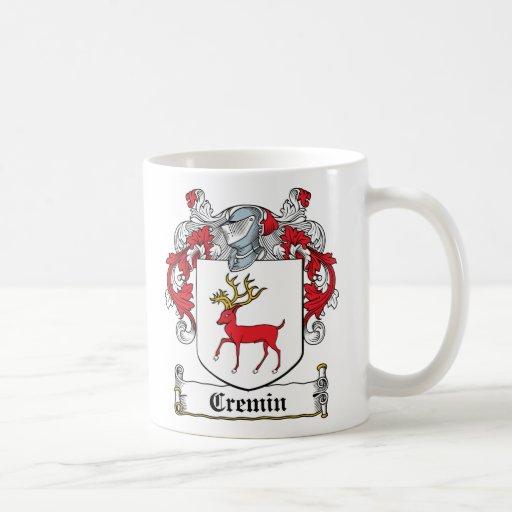 Escudo de la familia de Cremin Tazas De Café