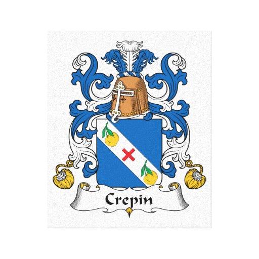 Escudo de la familia de Crepin Impresion De Lienzo