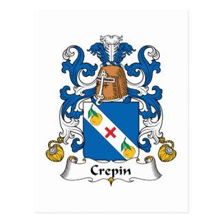 Escudo de la familia de Crepin Postal