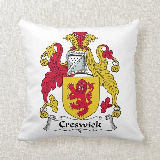 Escudo de la familia de Creswick Almohada