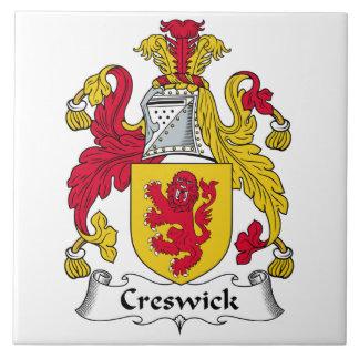 Escudo de la familia de Creswick Azulejos Ceramicos
