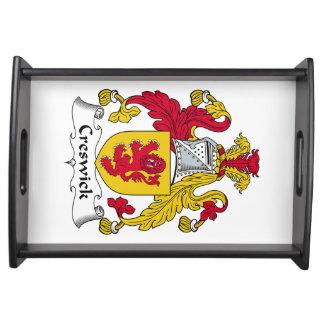 Escudo de la familia de Creswick Bandejas