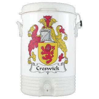 Escudo de la familia de Creswick Vaso Enfriador Igloo