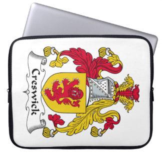 Escudo de la familia de Creswick Fundas Ordendadores