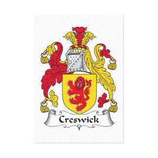 Escudo de la familia de Creswick Impresiones En Lona