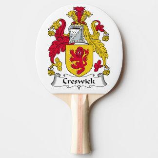 Escudo de la familia de Creswick Pala De Tenis De Mesa