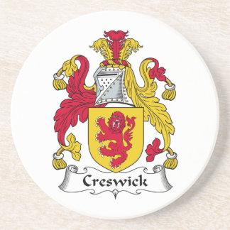 Escudo de la familia de Creswick Posavasos Cerveza