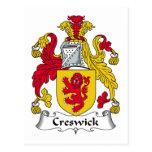 Escudo de la familia de Creswick Postal