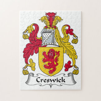 Escudo de la familia de Creswick Puzzles