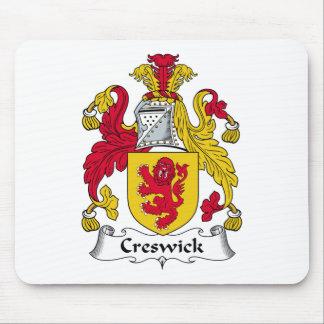 Escudo de la familia de Creswick Alfombrilla De Ratón