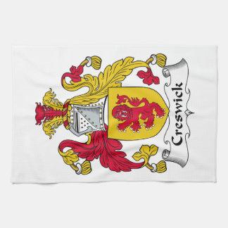 Escudo de la familia de Creswick Toallas De Cocina