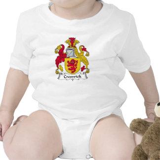 Escudo de la familia de Creswick Trajes De Bebé