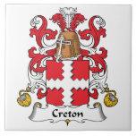 Escudo de la familia de Creton Azulejos Cerámicos