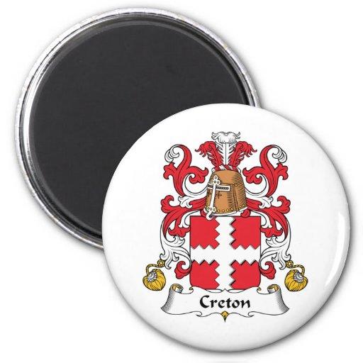 Escudo de la familia de Creton Iman Para Frigorífico