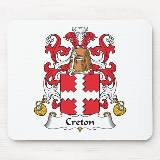 Escudo de la familia de Creton Tapetes De Raton