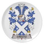 Escudo de la familia de Creutz Platos De Comidas