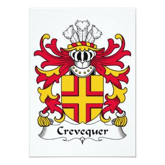 """Escudo de la familia de Crevequer Invitación 5"""" X 7"""""""